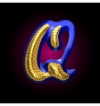 golden and blue letter q vector image vector image