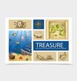 hand drawn treasure composition vector image vector image