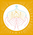 hands praying namaz vector image