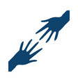 hands support gesture silhouette icon vector image
