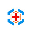 hospital cross sign logo vector image