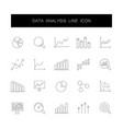 line icons set data analysis pack vector image vector image