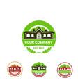 logo company vintage railway station green vector image vector image
