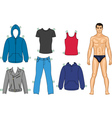 man and clothes vector image vector image