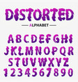 modern futuristic alphabet distorted letters and vector image vector image