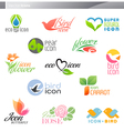 nature logos vector image vector image
