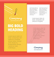 paint brush business company poster template with vector image