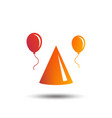 party hat sign icon birthday celebration symbol vector image vector image