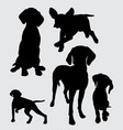 pointer dog mammal animal silhouette vector image vector image