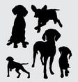 pointer dog mammal animal silhouette vector image vector image