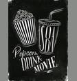 Poster soda popcorn chalk