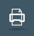 printer icon on white background vector image