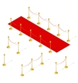 Red Carpet Set Isometric View vector image