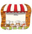 Restaurant chef vector image vector image