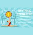 rhythmic gymnastics gold medal concept banner vector image vector image