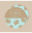 round invitation card with flowers vector image vector image