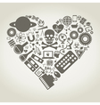 Science heart vector image vector image