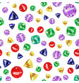 seamless pattern with colored precious gems vector image vector image