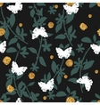 Seamless pattern with hand drawn butterflies and vector image