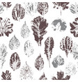seamless pattern with stamp leaves vector image vector image