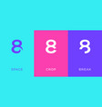 set number 8 minimal logo icon design template vector image vector image