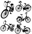 set of bicycle vector image vector image