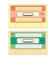 set various audio cassette tapes vector image