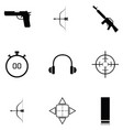 shooting range icon set vector image