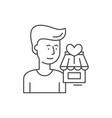 shopperson line icon concept shopperson vector image vector image