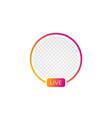 social media instagram icon avatar stories user vector image vector image