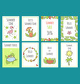 summer set of sale banner templates with cute hand vector image vector image