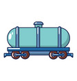 tank car icon cartoon style vector image vector image