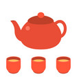 tea pot icon vector image vector image