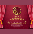 thai background pink color with flower logo