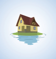 The small house on a light background vector image vector image