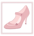 Vintage wedding shoe label vector image