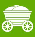 vintage wooden cart icon green vector image vector image