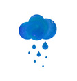 Watercolor rainy cloud vector image vector image