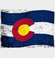 waving colorado state flag vector image vector image