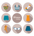 woman clothing icon set vector image vector image