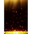 Yellow dark bokeh abstract light background vector image vector image