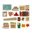 office necessary equipment flat poster on vector image