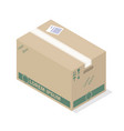 delivery box icon isometric style vector image