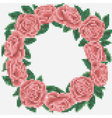 embroidery roses frame vector image