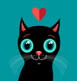 love with a kitten vector image