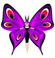 abstract color image of the large purple girl vector image