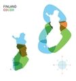 Abstract color map of Finland vector image vector image