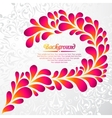 Abstract floral background with drops and leaves vector image vector image