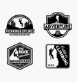 adventure logo badges 6 vector image vector image