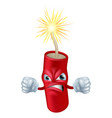 angry cartoon dynamite stick vector image